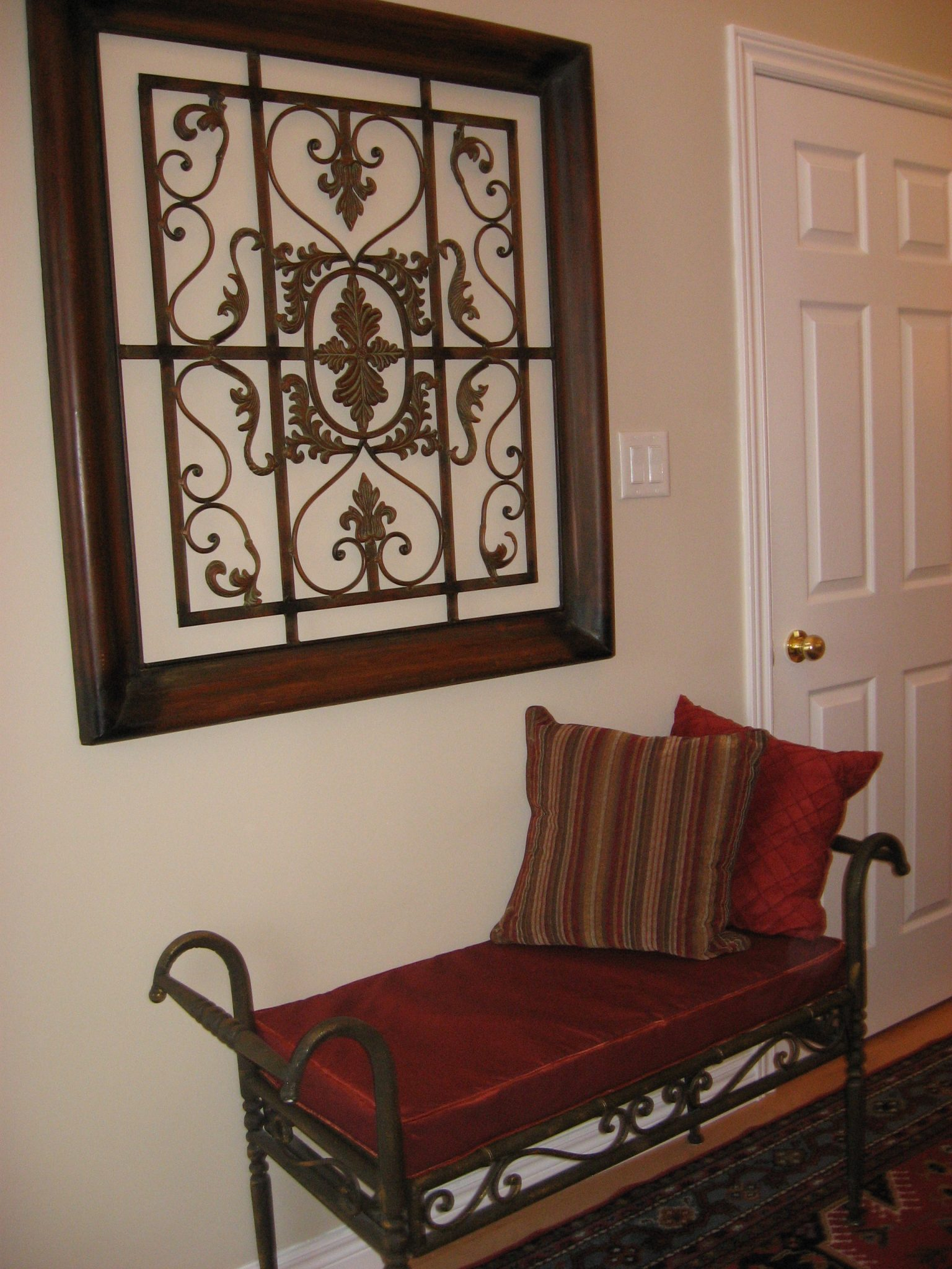 Custom Cushion Foyer Bench